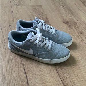 Gray Nike SB's